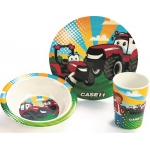 CASE IH CASEY & Friends 3 PC Dish Set **NEW**