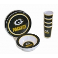 NFL Packers 12pc Melamine Dinnerware Set