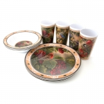 Wild Wings Melamine Tableware Set - Song Birds